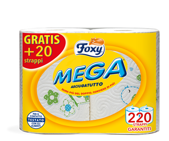 Picture of Foxy Mega Kitchen Roll   ( 2 Roll * 6 Piece )