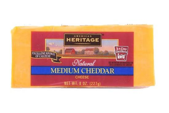 Picture of Heritage Meduim Chedar Cheese ( 227 GM * 12 Piece  )