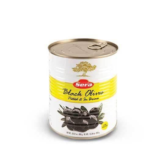 صورة زيتون أسود سوبر قليل الملح سيرا   ( 2.500  كجم * 2 علبة )