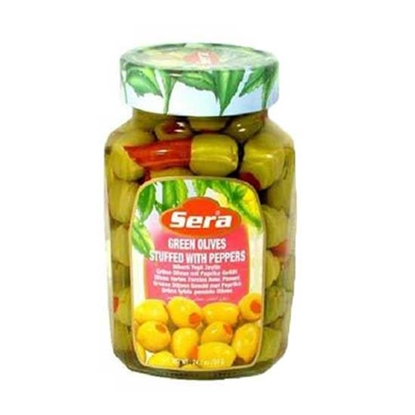 Picture of Sera Green Olives Scratchy ( 1 KG * 12 Jar )