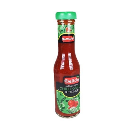 Picture of Delicio Ketchup Chilly Garlic ( 340 GM * 24 Bottle )