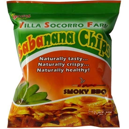 Picture of Sabanana Chips Banana Smoky  BBQ Villa Socorro    (  100 GM * 48 Pouch  )