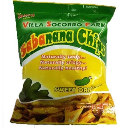 Picture of Sabanana Chips Banana Sweet Orginal Villa Socorro    (  100 GM * 48 Pouch  )
