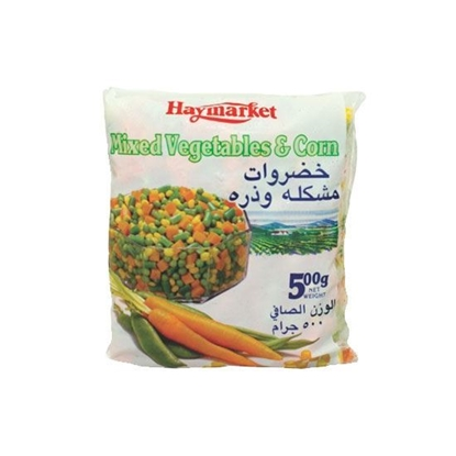Picture of Hay Market Mix Vegetables + Corn 4 Way ( 500 GM * 24 Pouch )