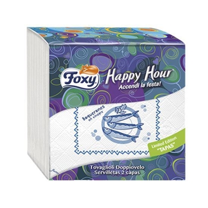 Picture of Foxy Table Napkin Happy Hour 33*33   ( 50 Packet * 18 Piece )