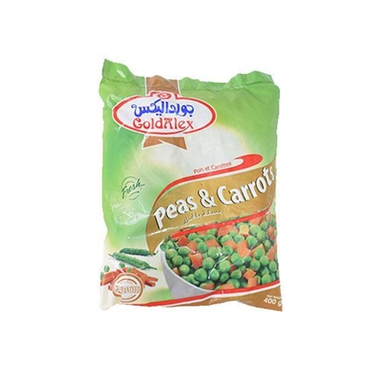 Picture of Goldalex Frozen Peas With Carrots ( 400 GM *  20 Pouch )