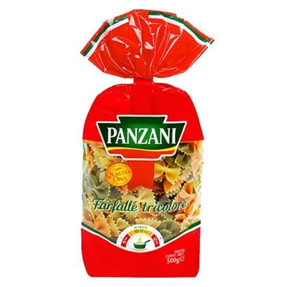 Picture of Panzani Butterfly Macaroni with Tomato & Spinch  ( 500 GM * 12 Pouch )