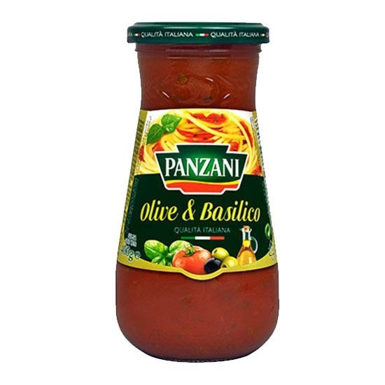 Picture of Panzani Tomato Sauce with Olives and Basil(400 GM * 12 Jar )