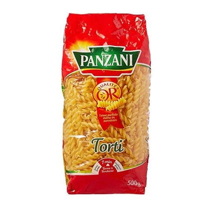 Picture of Panzani Twisted Macaroni with Tomato & Spinch  ( 500 GM * 12 Pouch )