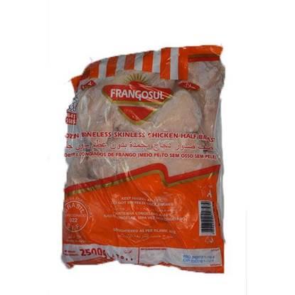 الصورة: ( صدوردجاج  مسحب مجمد فرانجسول  بدون جلد\ بدون عظم (2500 جم * 4 حبة
