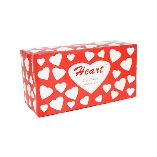 Picture of Heart facial Tissue   200 Paper X 2 layer    ( 5 Packet * 10 Piece )