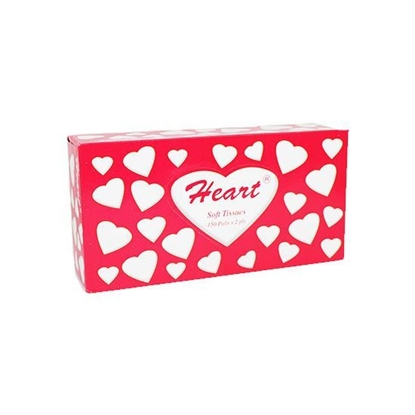 Picture of Heart facial Tissue  150 Paper X 6 Packet + 100 Paper X 2 Packet  ( 1 Packet * 6 Piece )