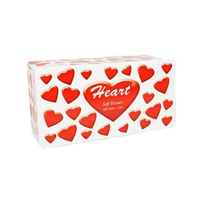 Picture of Heart facial Tissue  200 Paper 5+2  ( 5 Packet * 8 Piece )