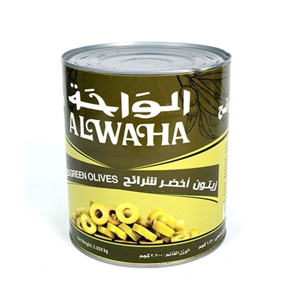 Picture of (  Al Waha Green Olive Slices( 3.050 KG * 6 Tin