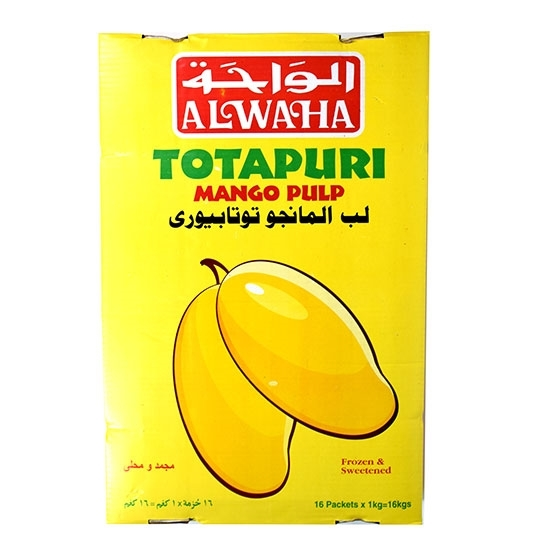 Picture of Al Waha Frozen Totapuri Mango ( 1 KG * 16 Pouch )