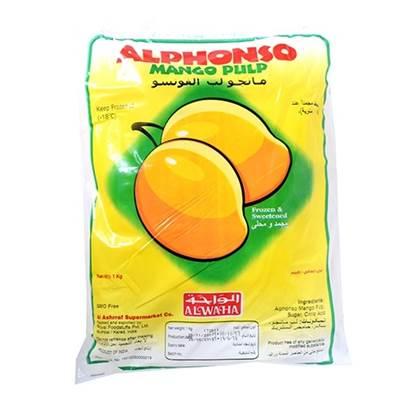 Picture of AL WAHA Frozen Alphonso Mango Pulp 1KG*16