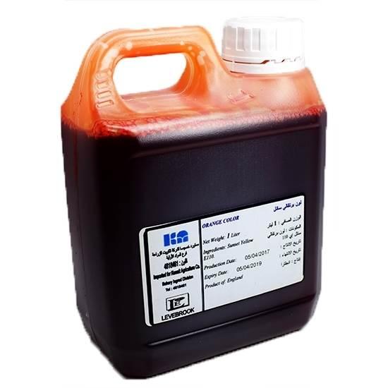 Picture of Liverbrook Orange Color Liquid( 1 Liter * 1 Gallon )