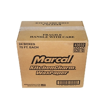 Picture of Marcal Wax Paper Rolls – 75 SQ/F-- USA( 24 Roll * 1  Carton )