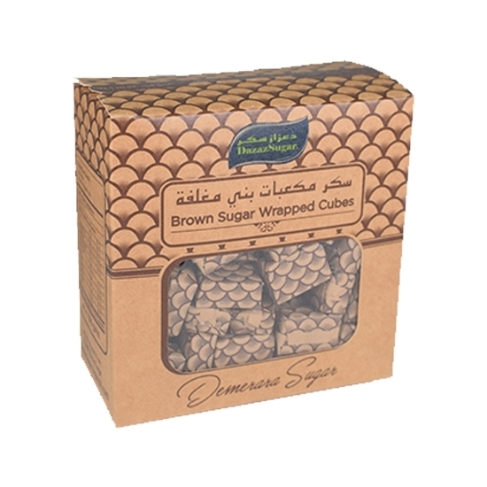 Picture of Dazaz  Brown Sugar Wrapped Cubes ( 500 GM * 24 Box )