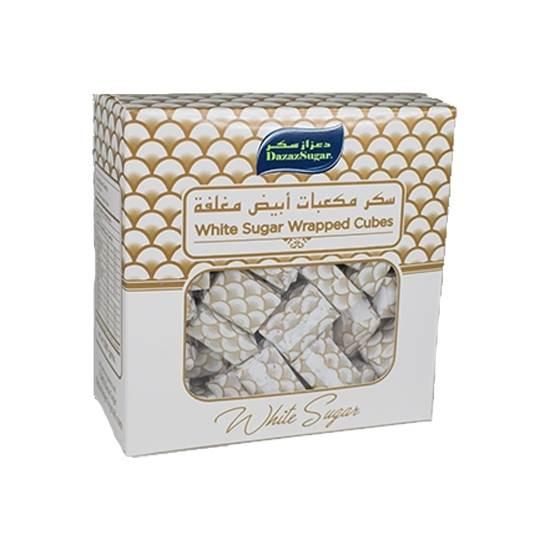 Thawaaq Kuwait Food Marketplace Dazaz White Sugar Wrapped Cubes 500 Gm 24 Box