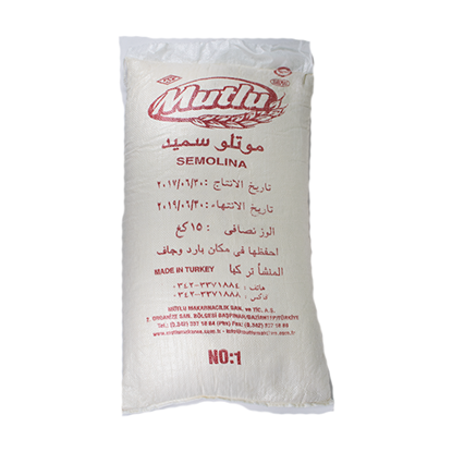 Picture of Mutlu Turkey Semolina Fine No.1( 15 KG * 1 Pouch )
