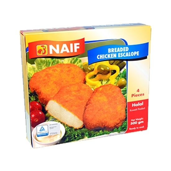 Picture of Naif Frozen Breaded Chicken Escallop ( 500 GM * 1 PACK )