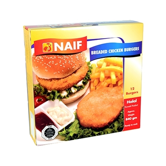 Picture of Naif Frozen Breaded Chicken Burger (840 GM * 1 PACK )