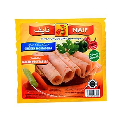 Picture of Naif Vegetables Chicken Mortadella Slices (150 GM * 1 Pouch )
