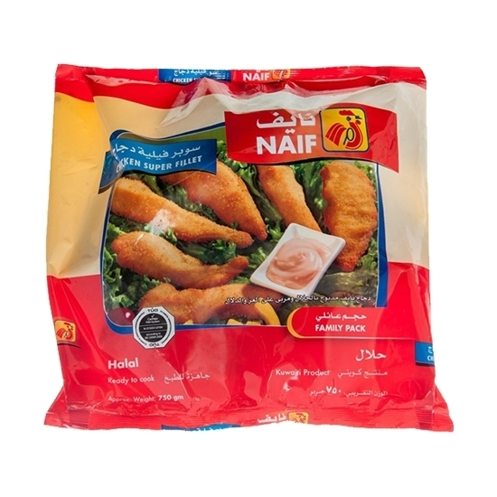 Picture of Naif Frozen Chicken Super Fillet (Family) ( 750 GM * 1 Pouch )