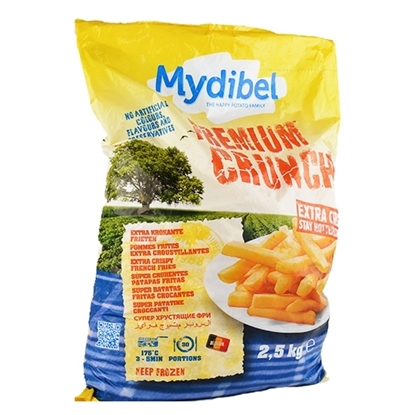 Picture of Mydibel Frozen French Fries Premum Crunch- 7/7- 18M FUN(108)-Arabic -( 4 Pieces * 2500 GM )