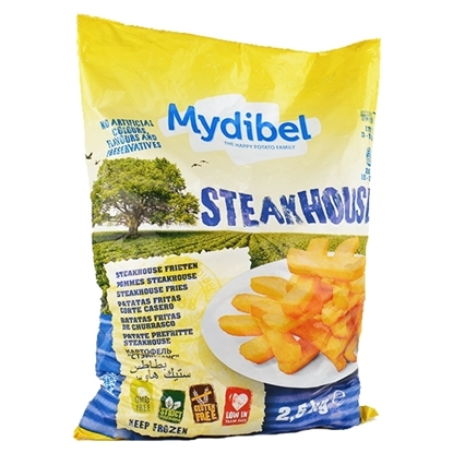 Picture of Mydibel Frozen French Fries Steak Cut Fries- 10/20 - KG FUN (120) 18-( 4 Pieces * 2500 GM )
