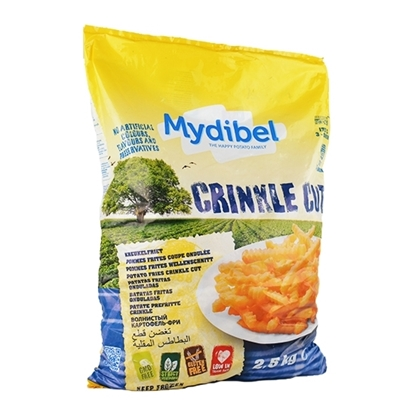 Picture of Mydibel Frozen French Fries Crinkle Cut- 12/12A - 18M FUN (108)- ( 4 Pieces * 2500 GM )