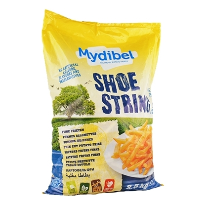 Picture of Mydibel Frozen French Fries Shoestring Wedges Skin on -A -18M FUN(108)- ( 4 Pieces * 2500 GM )
