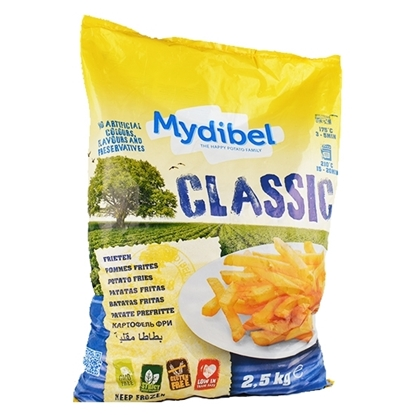 Picture of Mydibel Frozen French Fries  9x9 A - 18M -(108)- ( 4 Pieces * 2500 GM )