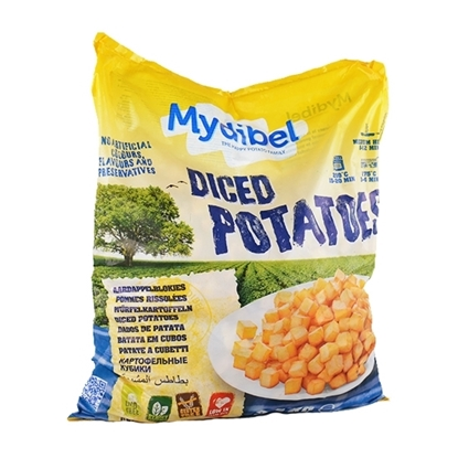 Picture of Mydibel Frozen French Fries Diced Potatoes -20/20/15 -GOLD -18M IND(96)-( 4 Pieces * 2500 GM )