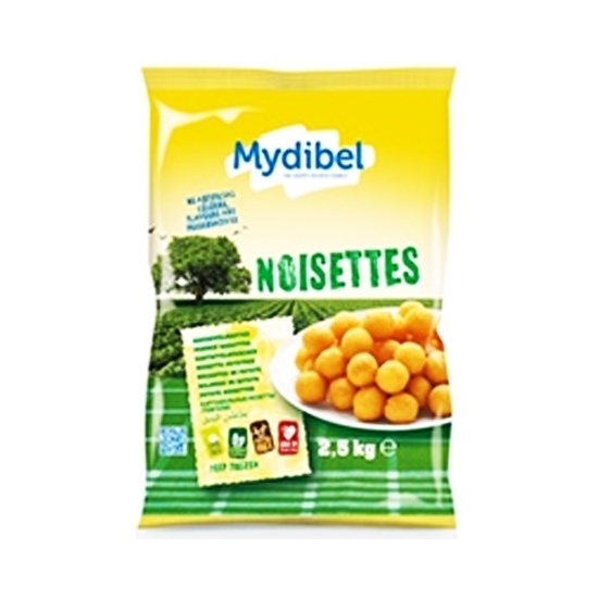 Picture of Mydibel Frozen French Fries Noisette Potatoes - 24M IND(96)-( 4 Pieces * 2500 GM )