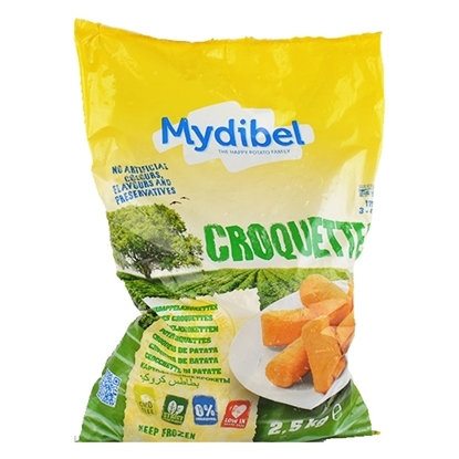 Picture of Mydibel Frozen French Fries Potato Croquettes- 18M IND(108)-( 4 Pieces * 2500 GM )