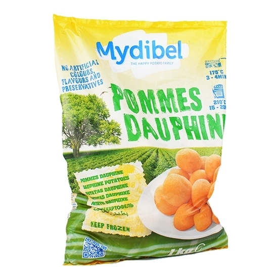 Picture of Mydibel Frozen French Fries Pommes Dauphine - 24M EUR (54)- ( 10 Pieces * 1000 GM )