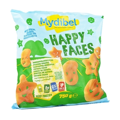 Picture of Mydibel Frozen French Fries Happy Faces - IND FUN (96) 24M- ( 12 Pieces * 750  GM )