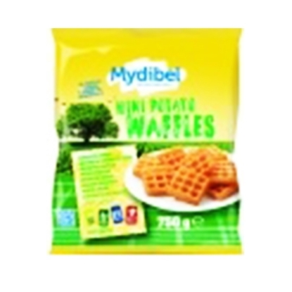 Picture of Mydibel Frozen French Fries Mini Potato Waffles -18M -Fun -(84) AJC Zaffari-( 8 Pieces * 750  GM )   -