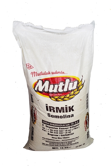 Picture of Mutlu Turkey Semolina Medium No.2( 15 KG * 1 Pouch )