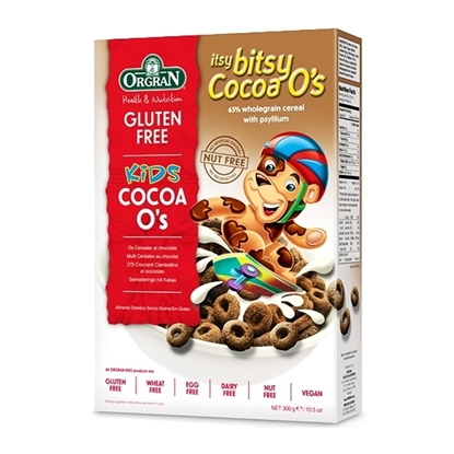 Picture of Orgran Itsy Bitsy Cocoa O`s ( 6 Pieces *  300 GM   )