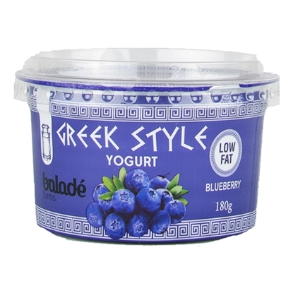 Picture of Balade Fresh Greek Yoghurt - Blueberry  ( 12 Pieces *  180 GM )