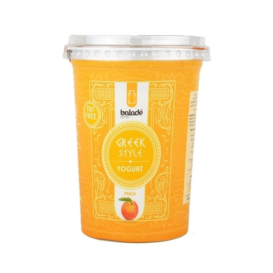 Picture of Balade Fresh Greek Yoghurt-d- Peach  ( 6 Pieces *  450 GM )