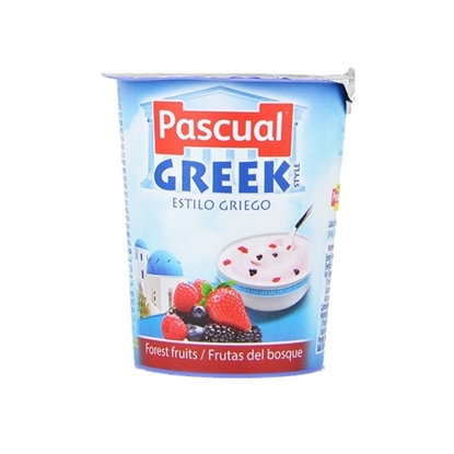 Picture of Pascual Fruits of the Forest Greek Style Creamy Yogurt ( 24 Pieces *  125 GM )