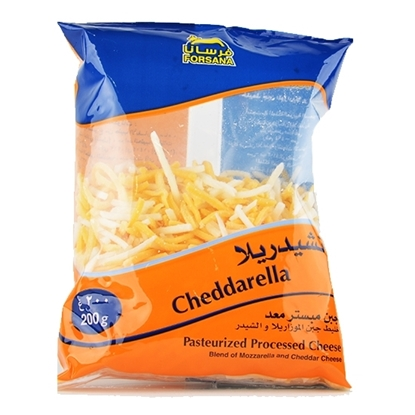Picture of Forsan Cheese Cheddar & Mozzarella Shredded Mix ( 12 Pieces * 200 GM )