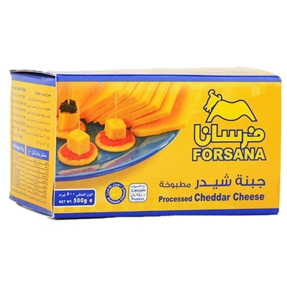Picture of Forsan Cheese Cheddar Yellow Block  ( 12 Pieces * 500 GM )