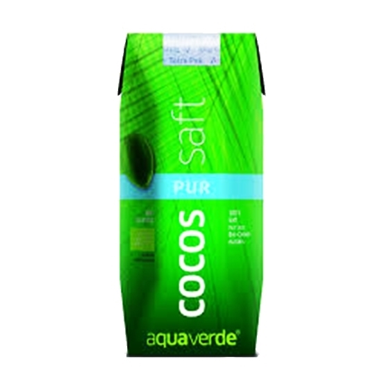 Picture of AQUA VERDE ORGANIC PURE COCONUT WATER 100% 330 ML