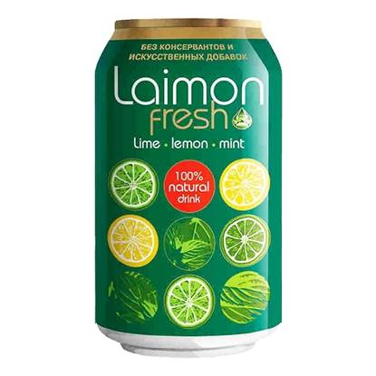 Picture of LAIMON FRESH LIME LEMON MINT SPARKLING DRINK 330 ML