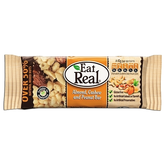 Picture of EAT REAL ALMOND CASHEW AND PEANUT BAR 40 GM